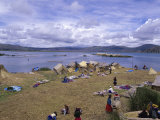 Uros Islands, Lake Titicaca, Peru Photographic Print