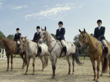 Group of Jockeys Sitting on Horses Photographic Print
