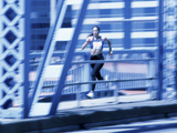 Young Woman Running Photographic Print