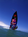Windsurfer with Colorful Sail Photographic Print