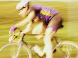 Side Profile of a Young Man Cycling Photographic Print