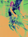 Young Man Riding a Bicycle Photographic Print