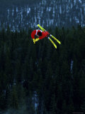 Skier Performing Stunt Photographic Print