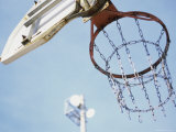 Low Angle View of a Basketball Hoop Photographic Print