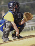 Boy Playing Baseball Photographic Print