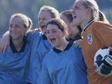 Female Soccer Team Standing Together Photographic Print