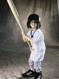 Boy in a Baseball Uniform Photographic Print