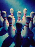 Bowling Pins Photographic Print