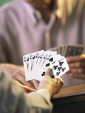 Man Holding Playing Cards Photographic Print