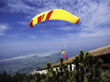 Paragliders Mount Tegelberg, West Germany Lámina fotográfica