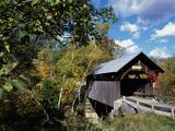Gold Brook Bridge, Stowe, Vermont, USA Photographic Print