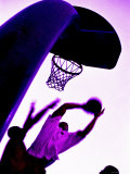 Purple Basketball Game Photographic Print