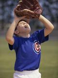 Close-up of a Boy Playing Baseball Photographic Print