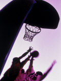 Purple Tinted Basketball Game Photographic Print