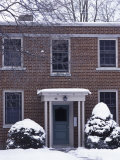 Facade of a House in a Snow Covered Landscape Photographic Print