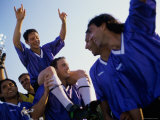 Victorious Soccer Team Photographic Print