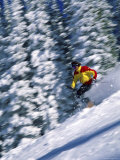 Skier Speeding Along Photographic Print