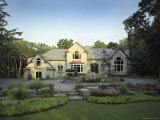 Traditional Home with Landscaping Photographic Print