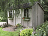 Garden Building with Window Boxes Photographic Print