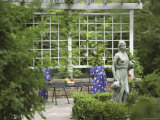 Garden with Statue Photographic Print