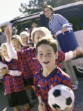 Soccer Team Standing Together Photographic Print