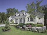 Contemporary Home with Landscaping Fotoprint
