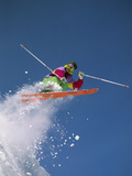 Colorful Skier Photographic Print