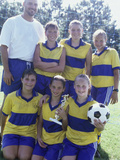 Portrait of a Female Soccer Team Photographic Print