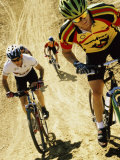 Group of People Riding Bicycles in a Race Photographic Print