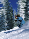 Speeding Skier Photographic Print