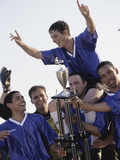 Soccer Team with Trophy Photographic Print
