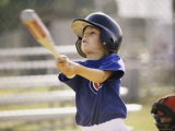 Close-up of a Boy Playing Baseball Photographic Print