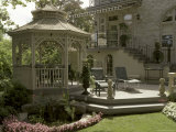 Backyard Gazebo and Deck Photographic Print