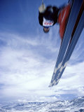 Skier in Flight Photographic Print
