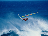Man Windsurfing in the Sea Photographic Print