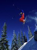 Airborne Skier Photographic Print