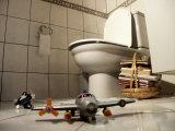 Bathroom Landing Strip Photographic Print