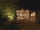 Home Exterior at Night Photographic Print
