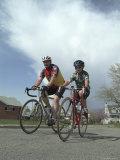 Bicyclists Photographic Print