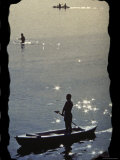 Boating Silhouette Photographic Print
