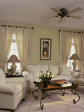 Cream Colored Living Room with Ornate Coffee Table Photographic Print