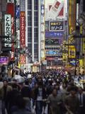 Kabuki-Cho Crowds, Japan Photographic Print