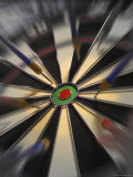 Close-up of Darts on a Dartboard Photographic Print