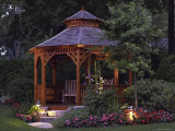 Garden Gazebo at Night Photographic Print