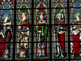 Stained Glass Depicting Saints Photographic Print