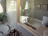 Luxury Bathroom Reflected in Mirror Photographic Print