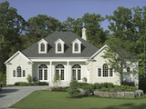 Traditional Home with Landscaping Fotoprint