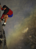 Male Mountain Climber on a Precipice Photographic Print