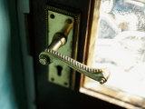 Close-up of Door Handle Photographic Print