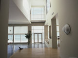 Beach House Interior with a View of the Sea Photographic Print